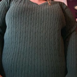 Green Designed Women's Sweater